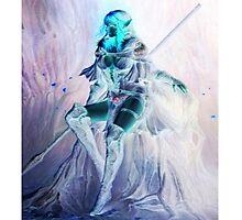 Whimsical Warrior Elf Woman Photographic Print