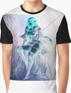 Whimsical Warrior Elf Woman Graphic T-Shirt