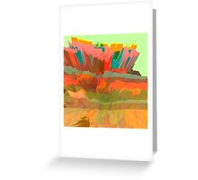Candy Canyon (Glitch Art) Greeting Card