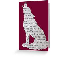 Hogwarts Wolf Greeting Card