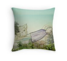 Good to be back home on the mountain Throw Pillow