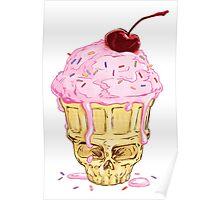 Skullcone Icecreamforbrains Poster