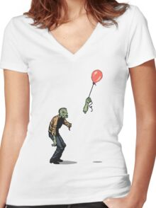 zombie Women's Fitted V-Neck T-Shirt