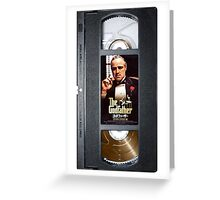 The Godfather vhs case  Greeting Card