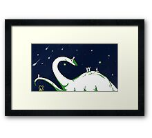 Once Upon a Dinosaur Framed Print