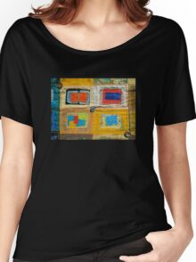 "Lilly Geometric Textile Art Series ""Loose Ends, Four"" Women's Relaxed Fit T-Shirt"