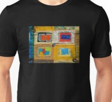 """Lilly Geometric Textile Art Series """"Loose Ends, Four"""" Unisex T-Shirt"""