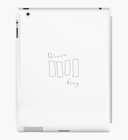 Black Flag hand-drawn transparent logo iPad Case/Skin