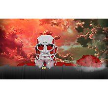 Attack on titan - Shingeki no Kyojin - Minecraft Photographic Print