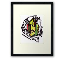 Urban sketch. Framed Print
