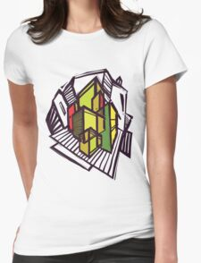 Urban sketch. Womens Fitted T-Shirt
