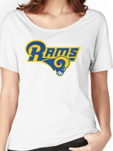 LOS ANGELES RAMS BLUE LOGO Women's Relaxed Fit T-Shirt