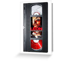 Leon the professional VHS case Greeting Card