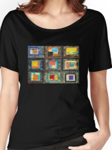 "Lilly Geometric Textile Art Series ""Loose Ends, Eleven"" Women's Relaxed Fit T-Shirt"