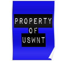 Property Of USWNT Poster