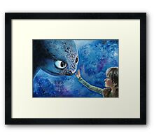 Toothless in Watercolour Framed Print