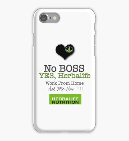 No Boss Yes Herbalife Stylish Swag iPhone Case/Skin