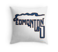 Dedmonton Oil Throw Pillow