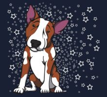 Starry English Bull Terrier  One Piece - Short Sleeve