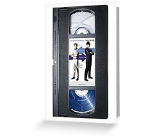 Catch Me if You Can VHS case Greeting Card