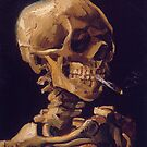 Vincent Van Gogh's 'Skull with a Burning Cigarette'  by Roz Abellera Art Gallery