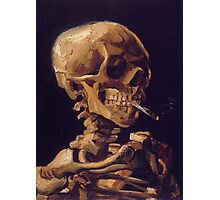 Vincent Van Gogh's 'Skull with a Burning Cigarette'  Photographic Print