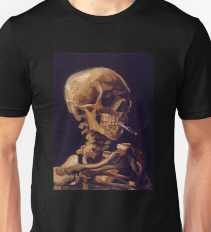 Vincent Van Gogh's 'Skull with a Burning Cigarette'  Unisex T-Shirt