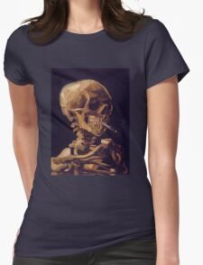 Vincent Van Gogh's 'Skull with a Burning Cigarette'  Womens Fitted T-Shirt
