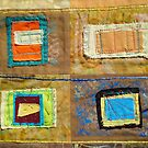 "Lilly Geometric Textile Art Series ""Loose Ends, Seven"" by Steve Chambers"