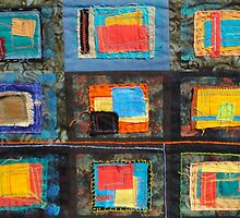 """Lilly Geometric Textile Art Series """"Loose Ends, Fourteen"""" by Steve Chambers"""