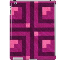 Magenta Pixel Blocks iPad Case/Skin