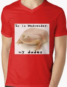It is Wednesday my dudes Mens V-Neck T-Shirt