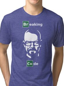 Breaking Code - Breaking Bad Parody Design for Programmers Tri-blend T-Shirt