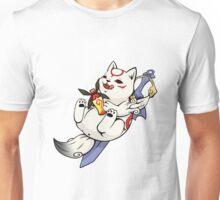 Chibiterasu + Sake + Sword Unisex T-Shirt