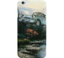 'Wingardium Leviosa' - Funny Harry Potter Parody of Harry, Hedwig, and Ron Weasley in Flying Car - Altered Thrift Art Parodies by Dave Pollot iPhone Case/Skin