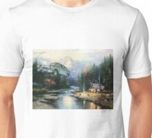 'Wingardium Leviosa' - Funny Harry Potter Parody of Harry, Hedwig, and Ron Weasley in Flying Car - Altered Thrift Art Parodies by Dave Pollot Unisex T-Shirt