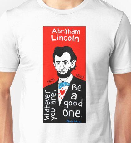 Abraham Lincoln Pop Folk Art Unisex T-Shirt