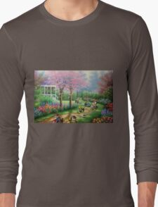 'Ridin' Dirty' - Funny Mario Kart Parody of Mario, Luigi, Bowser, Yoshi and More - Altered Thrift Art Parodies by Dave Pollot Long Sleeve T-Shirt