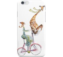 Whimsical bicycle ride iPhone Case/Skin