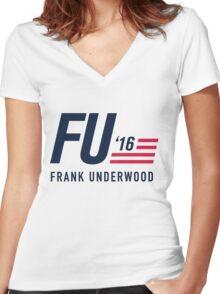 FU 2016 Women's Fitted V-Neck T-Shirt