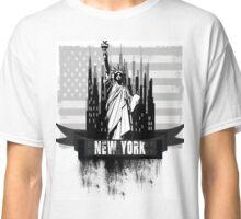 New york Black and white Classic T-Shirt