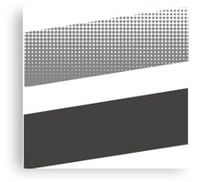 Halftone stripe logo Canvas Print