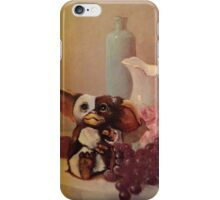 '11:59 P.M.' - Funny Gremlins Parody of Gizmo - Altered Thrift Art by Dave Pollot iPhone Case/Skin