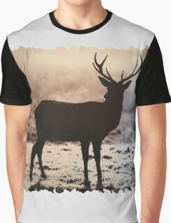 Stag in the mist Graphic T-Shirt