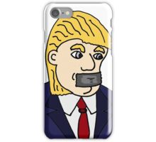 Funny Cool Donald Trump with Duck Tape Cartoon iPhone Case/Skin