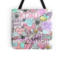 Bubblegum Collage  Tote Bag