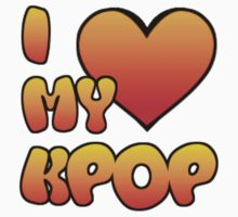 I LOVE MY KPOP - BLUE Kids Tee