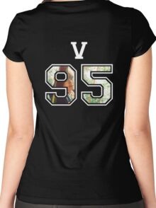 BTS - V 95 Women's Fitted Scoop T-Shirt