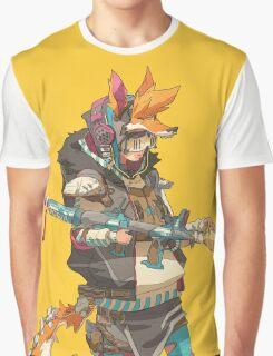 Fury Beats - Lily Slash Yellow Graphic T-Shirt