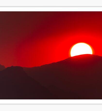 Sunset Over The Sun Road Sticker